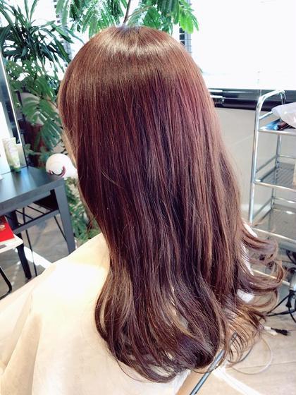 ウイービングを使った赤味のあるカラー umica所属・本間幸のスタイル