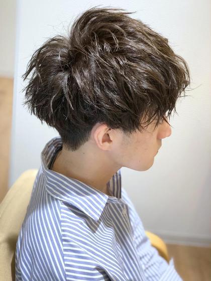 メンズカット+シースルーカラー+髪質改善TRが3900円!