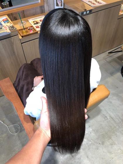 全員対象【輝く艶髪へ】縮毛矯正+炭酸泉