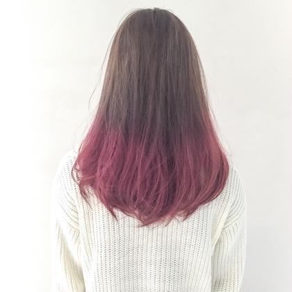 カラー ピンクグラデーション