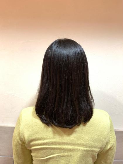 🌟ポイントストレート+前髪カット🌟