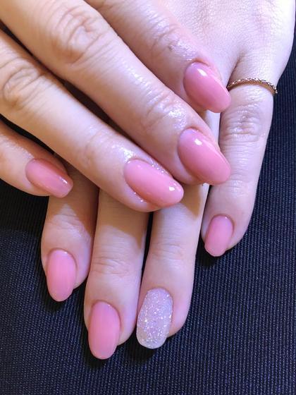うるうるなピンクカラーにクリスタルピクシーネイル Jumellesnailジュメルネイル所属・三浦亜紀のフォト