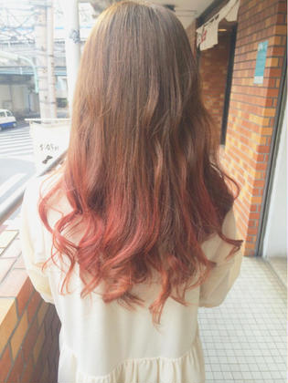 グラデーションカラー+ハイライト  smooth  hair所属・スギノトモユキのスタイル
