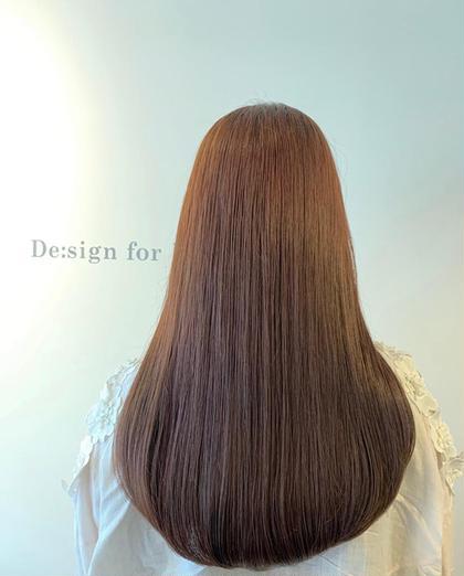 【通常カラー】¥3,000円  ☆レッド×ブラウン  ブリーチなし De:sign for Hair所属・いしざきのぞみのスタイル