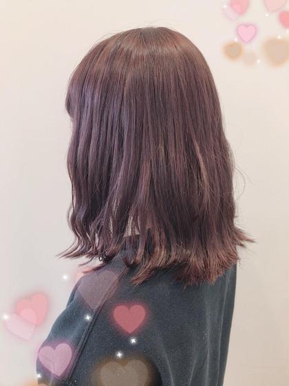 淡いピンクパープル 関口三都季のヘアスタイル・ヘアカタログ