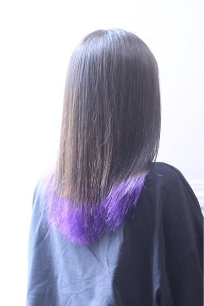 【インナーor裾カラー🌿】ポイントブリーチスタイル+2層トリートメント😊