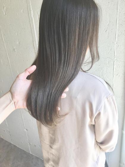 🌸おすすめメニュー🌸≪ナチュラルボリュームダウン≫ カット+髪質改善ストレート+透け感カラー+トリートメント◎