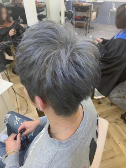 カラー ショート メンズ cut / wcolor / gray✂︎ ベース.ハイライト