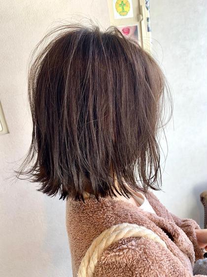 【人気No.1*土日限定*】カット×外国人風カラー×Deep layerトリートメント(3step)