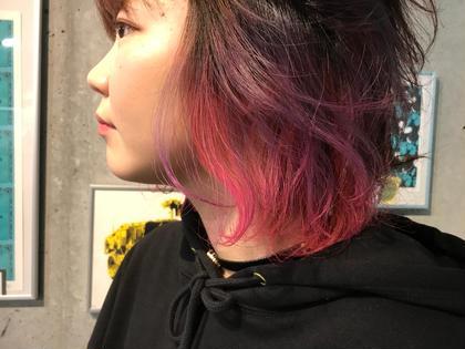 カラー ショート inner violet pink❤︎ ヘアマニキュア使用で+1,500円!