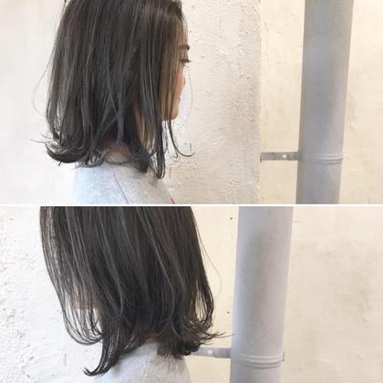 その他 カラー ショート Real salon work✂︎ [レイヤーボブ✂︎ハイライト&ブルーグレー] . 前下がりボブにレイヤーでユレル束感を✂︎ . 細めのハイライト入れて立体感と透明感を☆ . . . 地毛の透明感のようなさりげなく透けるhair✨ . 大人っぽくなら 主張し過ぎないバランスで☝︎⭕️ . . . #NAKAIstyle #ボブ#切りっぱなしボブ#外ハネボブ#ハイライト#ブルーグレー#カラー#ファッション#ootd#ハイカジュアル#お客様カットカラー