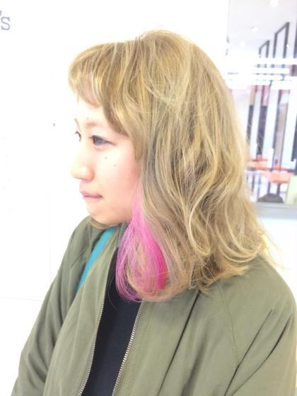 E-girls あみちゃんカラーにアクセサリーデザインをオン!   パープルとピンクを複雑に入れました! モードケイズ六甲道店所属・森翔矢のスタイル