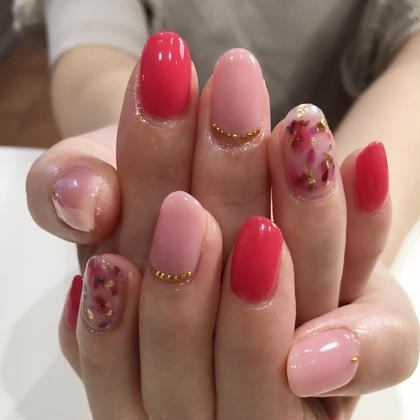 ネイル 大人ピンクnail♡