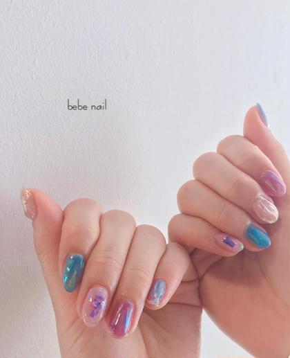 大人気♡ニュアンスネイル 春色バージョン。 とても可愛いです‼︎ アート込み込みで5900円。 大変お得に出来ます☺︎ bebenailの