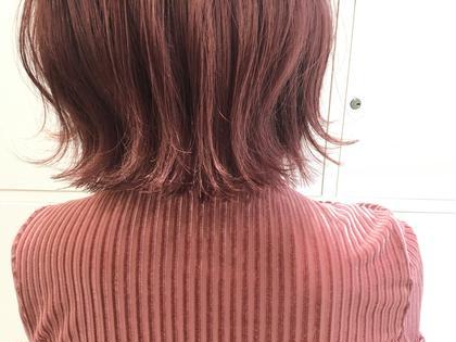 カラー ショート またまたタコちゃんスタイル  色までタコちゃんなスタイル。  強めの赤系カラーに 切りっぱなし外ハネボブは 最強のコンビネーションですよ  切りっぱなしボブならお任せください
