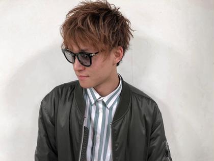 ♠️【カラーしてオシャレ男子】メンズカット➕ヘアカラー➕眉カット