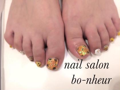 foot✨付け放題コース デザイン持ち込み✨をアレンジさせて頂きました nail salon  bo-nheur(ボ・ヌール)所属・瀬戸望見のフォト