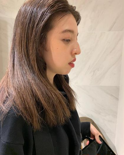 最新導入イノアカラーで透明感のある艶髪へ🌿 従来と違うオイルカラーなのでダメージレスです💡 TR付き INOA