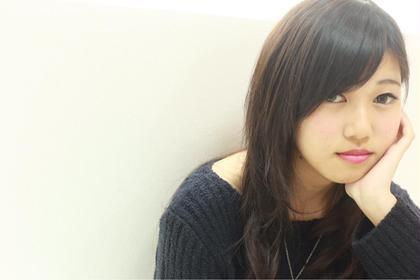 #撮影モデル 毛先は軽くまくスタイル FORTE掛川店所属・波多野将貴のスタイル