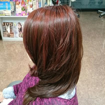 ツートーンカラー 右と左で色が違います Hair ARKS上大岡店所属・高橋えりかのスタイル