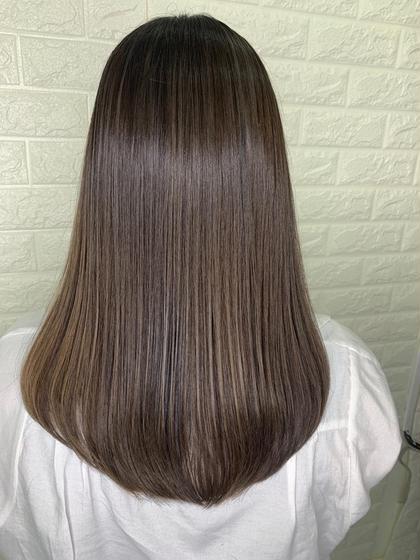 90%髪質改善トリートメントで作ったオリジナルの縮毛矯正剤で、ブリーチした髪の毛にも対応可能★