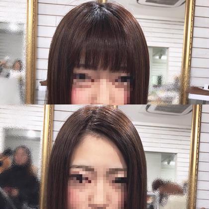 カラー ヘアアレンジ ミディアム ぱっつんから長い前髪に!