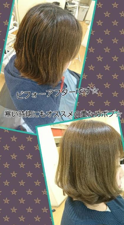 今回もとてもキレイになりました☆トリートメントで重さを残していてもサラサラの手触り☆ご来店ありがとうございました uta天王寺店所属・uta 店長seiyaのスタイル