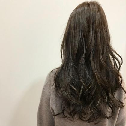 cut→ロング color→N.ブルーアッシュ             極細ハイライト✨ alphahairsalon所属・宮崎望のスタイル