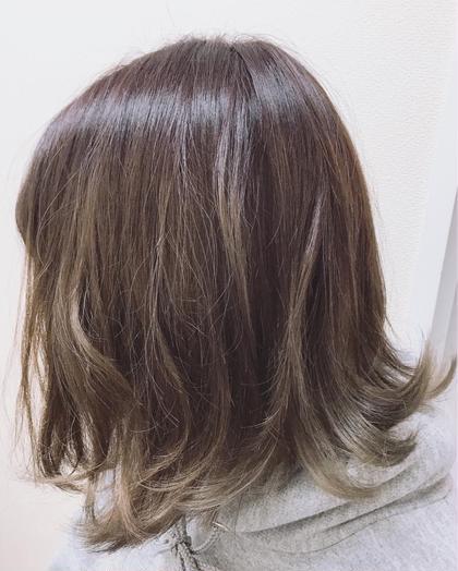 【🎨赤味撃退ツヤ感カラー🎨】 似合わせカット&イルミナカラー&蜂蜜トリートメント