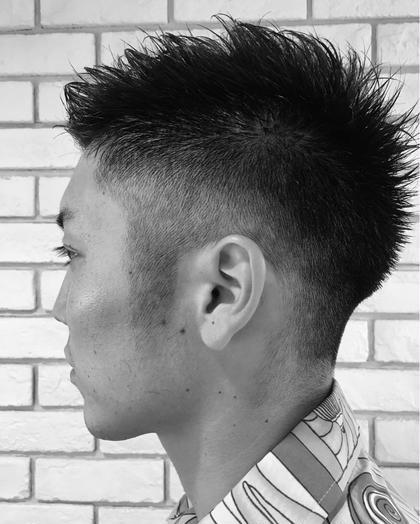 刈り上げグラーデション!!  前髪は少し長く残して流せるように☆ ietto所属・矢部功也のスタイル