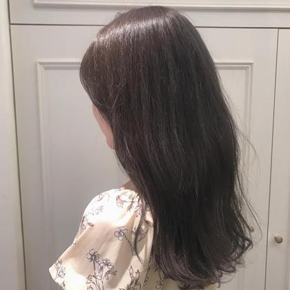 その他 カラー パーマ ヘアアレンジ ロング  オリーブアッシュ☆  透明感たっぷりで可愛いです!
