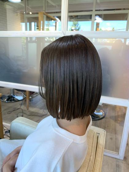 🟣髪質改善酸熱トリートメント+オーガニックカラー🟣