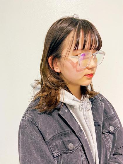 【🔥当日(5/29)限定半額以下!!⚡】️カット+透明感カラー+2stepキューティクル補修トリートメント ¥4980