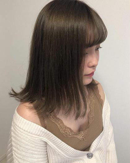 前髪cut × ワンカラー