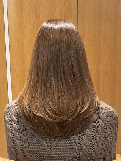 ロング✂︎前髪ありの方!軽めの段を入れさせて頂きます!無料です!