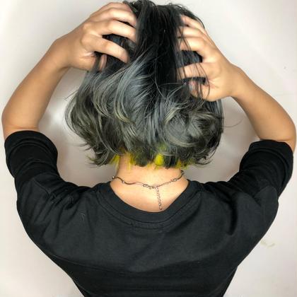 🐶U24限定メニュー🐶ダメージケアブリーチ&頭皮に優しい艶カラー
