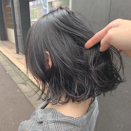 【就活生・学生応援価格🍒】黒染め不使用の暗髪カラー💕+3stepハホニコトリートメント💕+カット💕