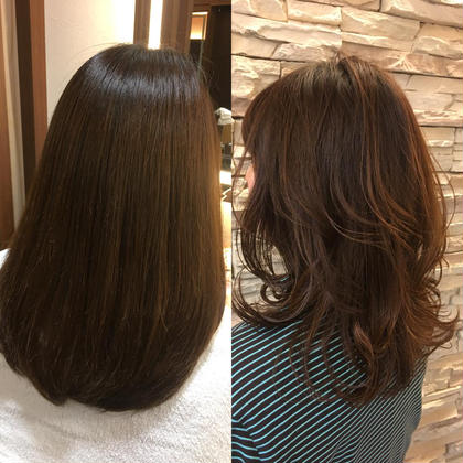 重めミディアム→外ハネ大人女子♡  アイロンでカンタンに美人で今どきヘア!! neaf所属・YANAISATOMIのスタイル