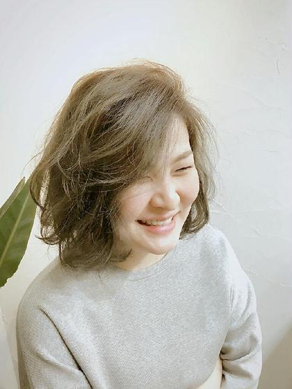 アッシュベージュのボブスタイル☆ Hair Salon Noa所属・有村慶子のスタイル