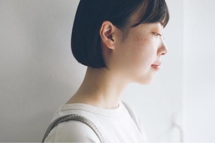🥣ニュアンスカット+ナチュラルストレート+オラプレックストリートメント(前髪のみのアイロン施術は+2000円)