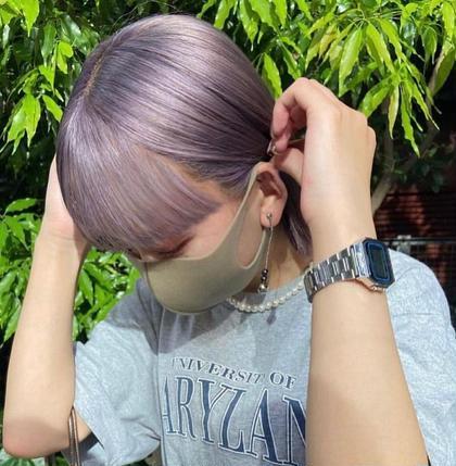 🌈ブリーチでも艶髪トレンドカラーに🌈カット+ケアブリーチ+カラー20400→9900