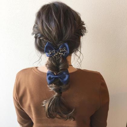 パーティー用にユルめに編み下ろしstyle✨✨ ETLAB所属・江藤星史のスタイル