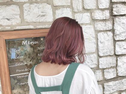 【Summer Cloe☆】イルミナorアディクシーカラー+髪質改善キュアトリートメント¥11500→¥9000