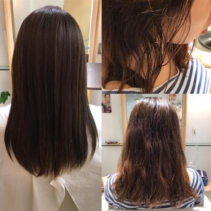 【髪質改善】トリートメントストレート& カット