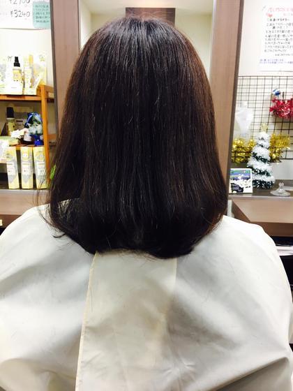 多毛の方だったので毛先を2センチ切って毛量を少なくしました☆*。 Q-te 吉川所属・齋藤咲奈恵のスタイル