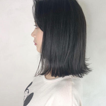 🌟伸ばし中の人にオススメ🌟前髪カット+透明感イルミナカラー+最高級ハホニコトリートメント💗