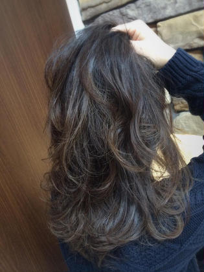 ツヤ髪ハイライト×パープル☺︎ NOVEL所属・阿部花絵のスタイル