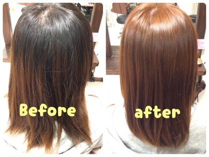 明るいピンクに(*^^*)ツヤツヤになりました! fukka hair所属・近藤のぞみのスタイル