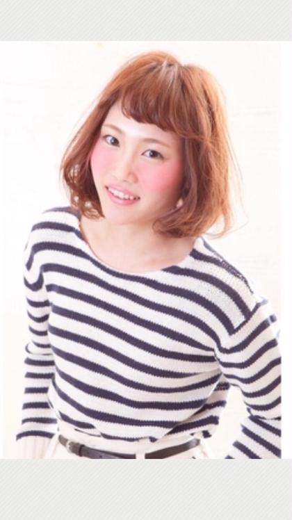 エアリーボブ⭐️春に似合わせたビタミンカラー✨自分でもスタイリングしやすいスタイルです! MODE K's阿倍野店所属・伊藤サダキのスタイル