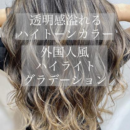 ✨超立体感✨3Dハイライトカラー(全頭ハイライト)&Aujuaトリートメント&カット💖